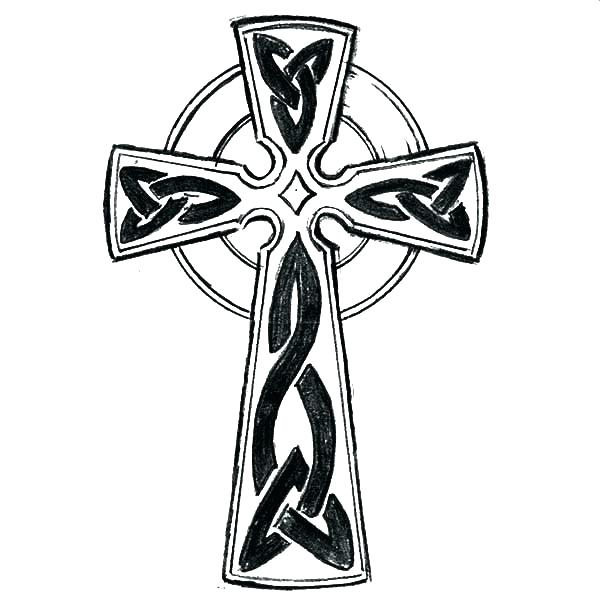 600x600 Cross Coloring Pages Printable Cross Coloring Pages Cross Tattoo