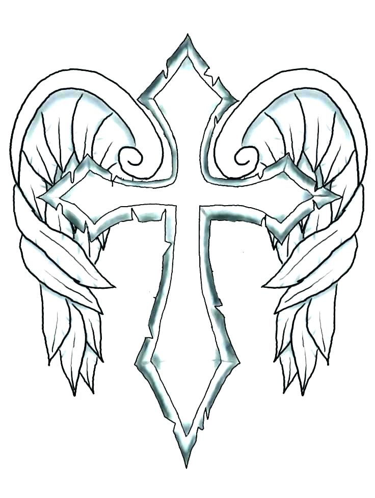 736x976 Cross Coloring Pages To Print Lovely Tattoo Coloring Pages