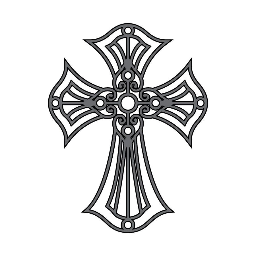 900x900 Cross Tattoos Coloring Pages Cross Tattoo Version Templates