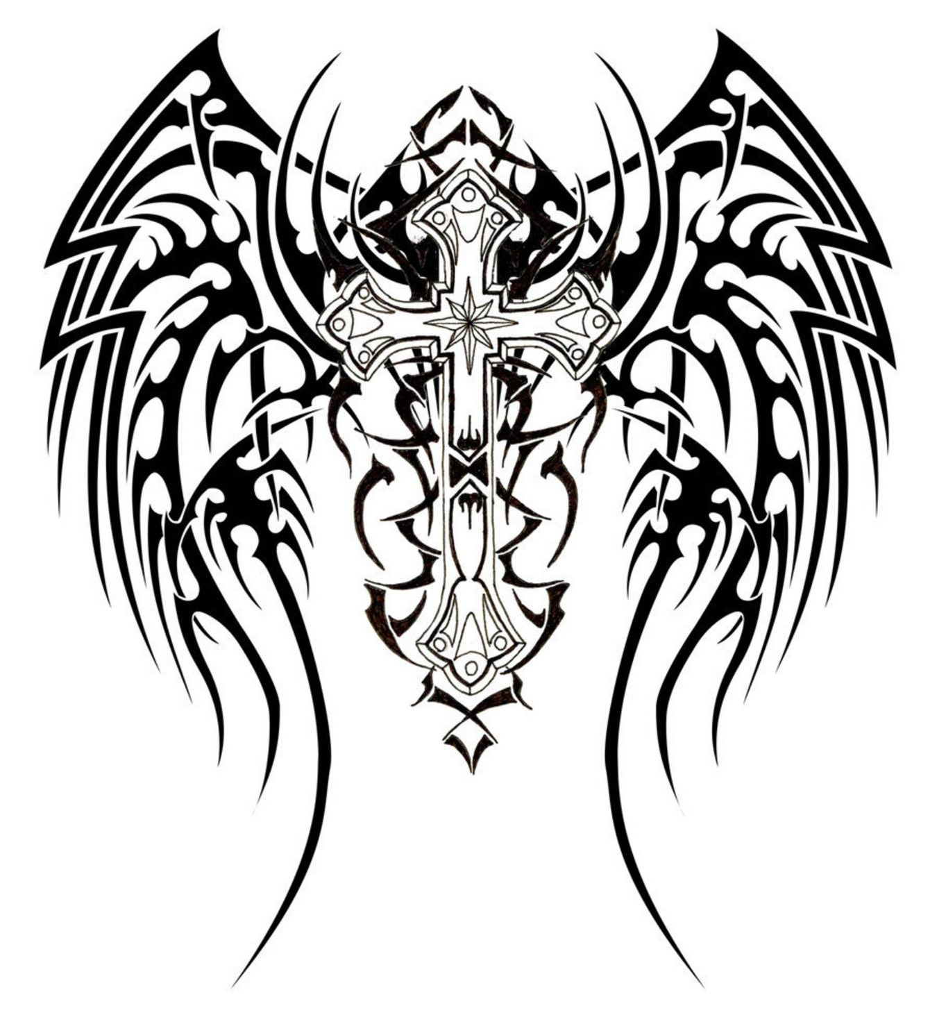 1350x1475 Harley Davidson Symbol Coloring Pages Tribal Cross Tattoos