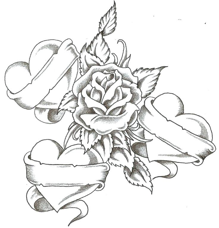 736x764 Tattoo Coloring Pages Printable Cross Tattoos Designs Hot Best