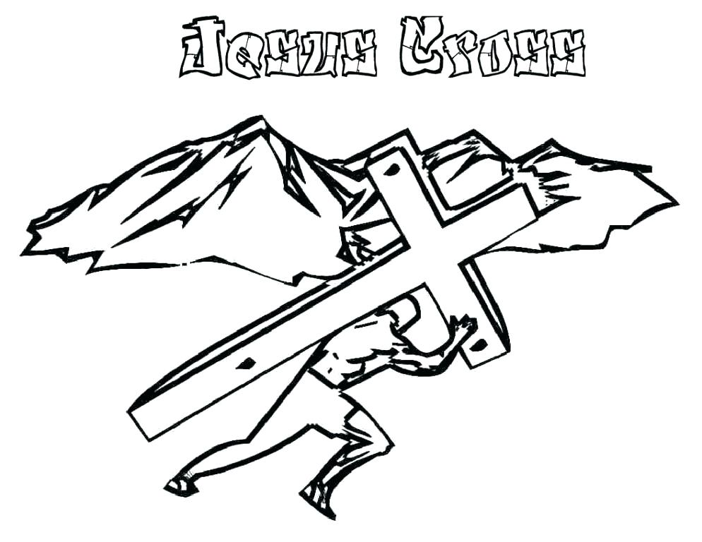 994x768 Coloring Pages Cross Tattoo Coloring Pages To Print Also Cross