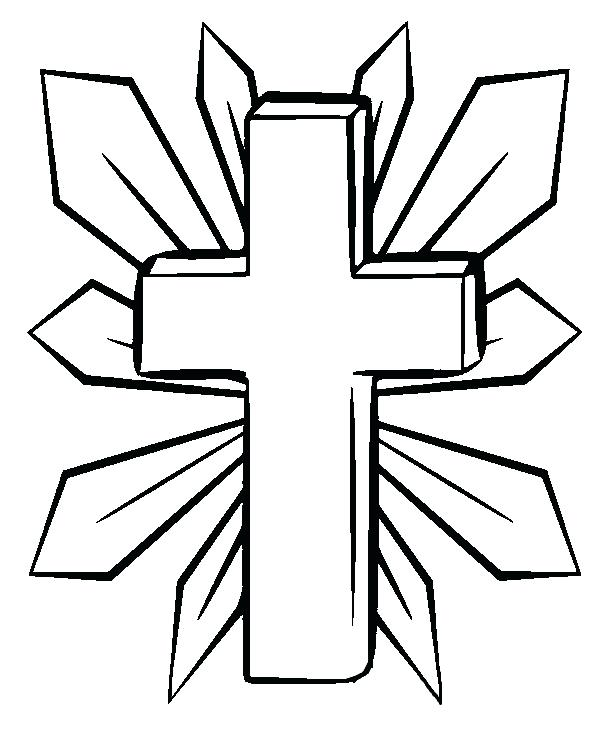 600x731 Coloring Pages Crosses On The Cross Coloring Page Free Printable