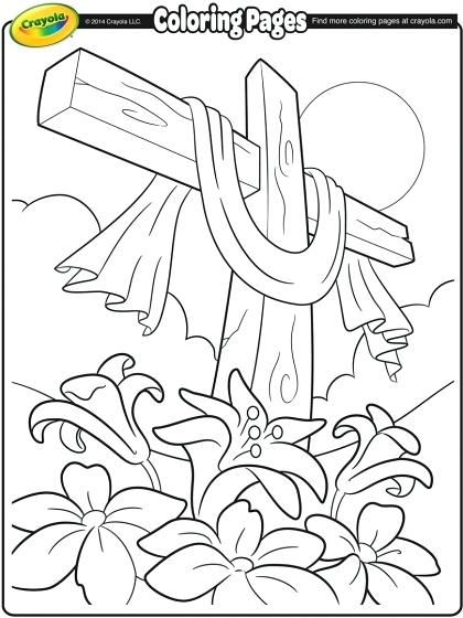 420x560 Coloring Pages Crosses Stained Glass Cross Printable Coloring Page