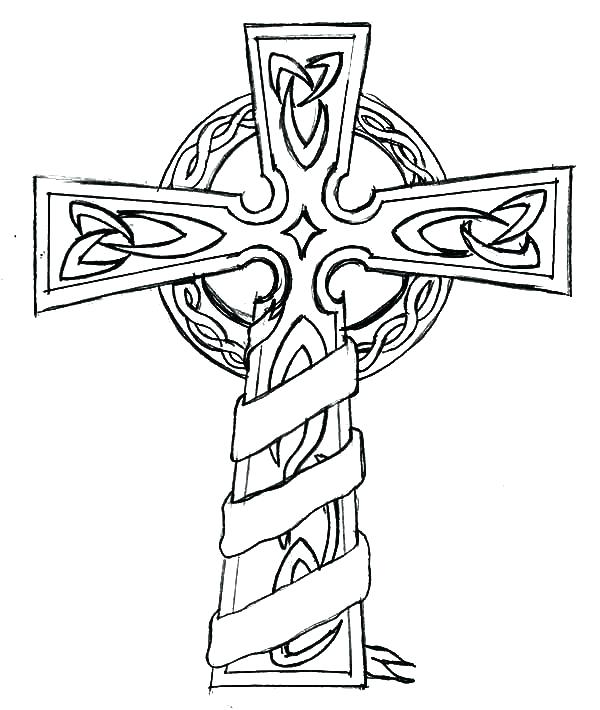 600x710 Coloring Pages Of Crosses Cross Color Pages Famous Cross Coloring