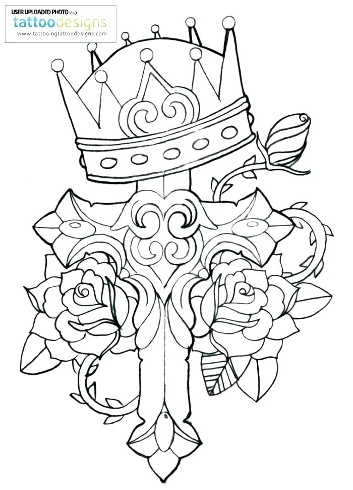 700x970 Coloring Pages Of Crosses With Flowers For Cross Cr
