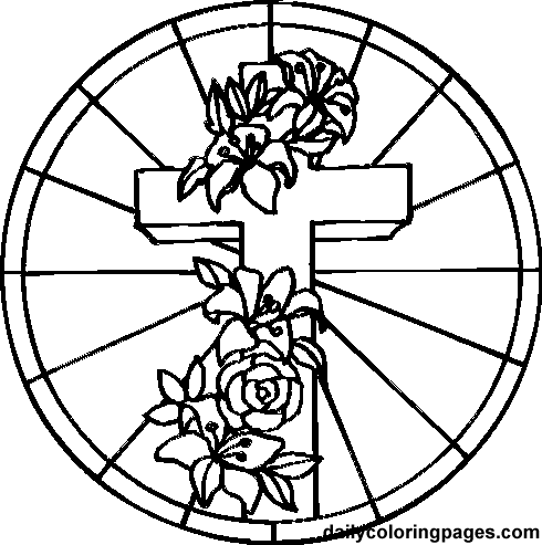 490x493 Coloring Pictures Of Crosses Coloring Easter