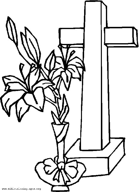 580x800 Cross Coloring Pages Cross With Flowers Coloring Pages Kids