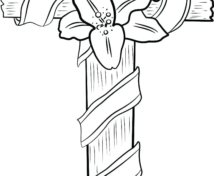 727x600 Cross Pictures To Color Coloring Pages Of Crosses Cool And Opulent