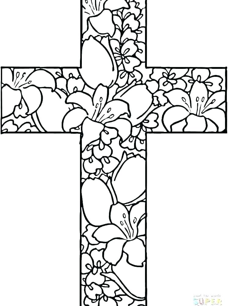 750x1000 Cross Coloring Pages