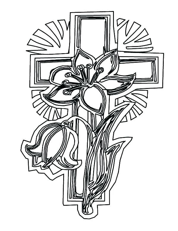 600x777 Coloring Page Cross Pictures Of Crosses To Color Cross Color Pages