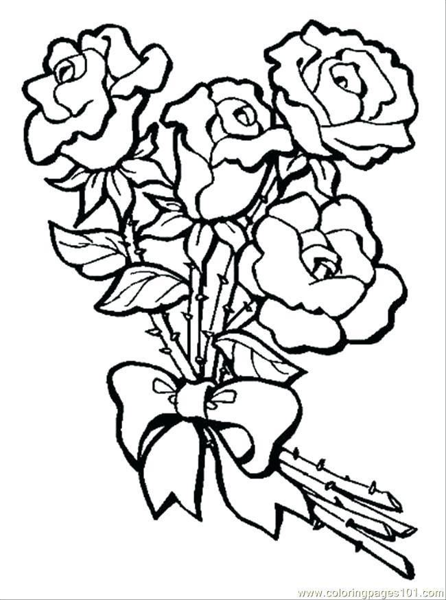 650x874 Coloring Pages Rose Coloring Pages Roses And Hearts Rose Color