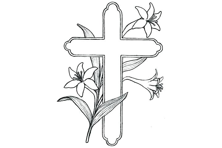 720x480 Crosses With Roses Coloring Pages Coloring Pages Of Skulls