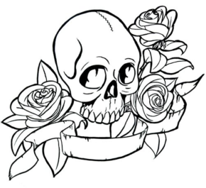 290x265 Rose Cross Coloring Page Coloring Book