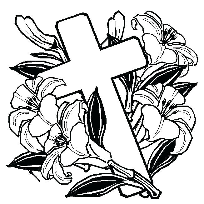 653x653 Coloring Pages Of Crosses And Roses Coloring Pages Cool Rose