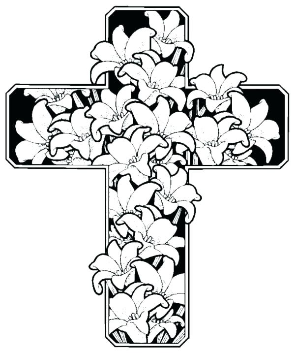 600x717 Cross Coloring Sheets To Print Coloring Page Cross Coloring Page