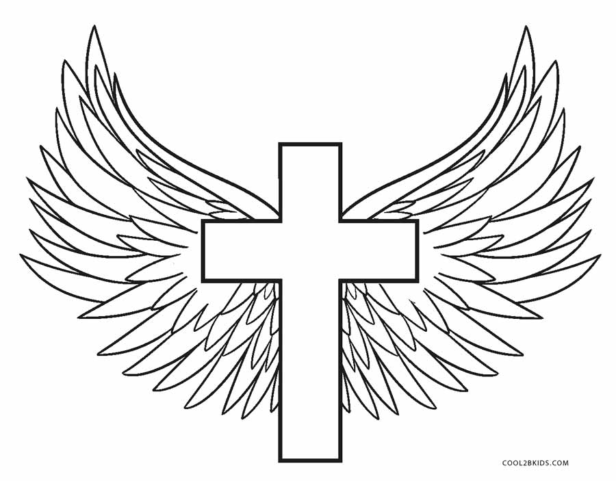 900x703 Free Printable Cross Coloring Pages For Kids