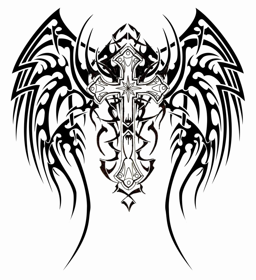 900x983 Free Printable Cross Coloring Pages For Kids Cross With Wings