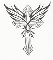 210x240 Free Printable Cross With Wings Coloring Pages For Adults