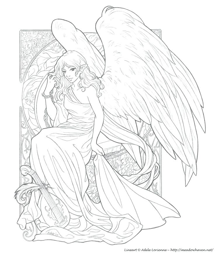 736x863 Angel Wings Coloring Pages Angel Wings Coloring Pages Cross