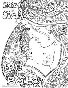 236x305 Baby Coloring Page Birth Babies, Doula And Birth