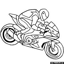 Crotch Rocket Coloring Pages