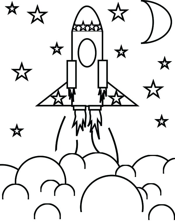 600x766 Rocket Coloring Pages Rocket Ship And The Simple Rocket Ship