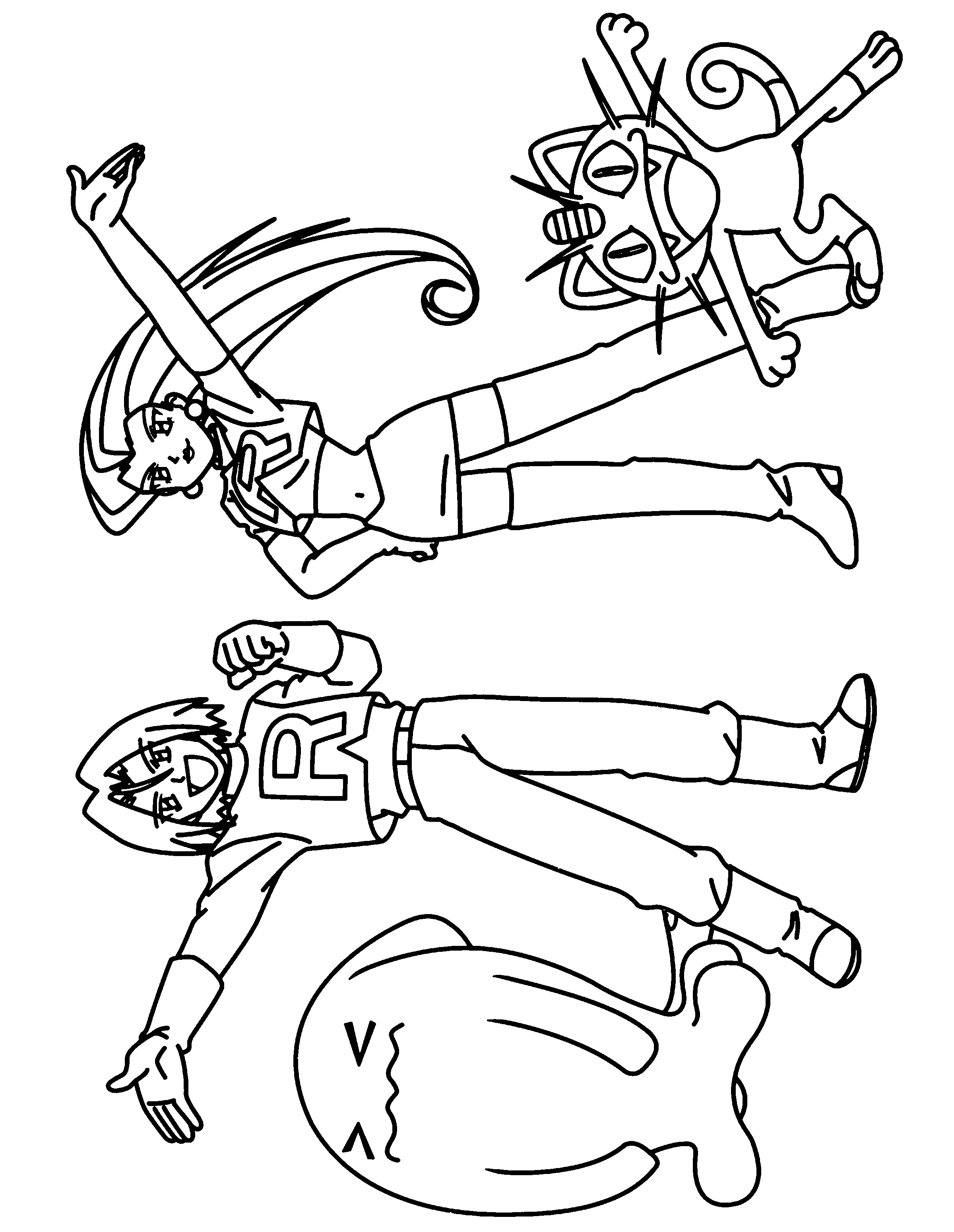 2400x3100 Team Rocket Coloring Pages