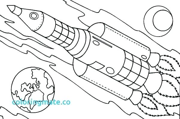 600x397 Rocket Coloring Pages