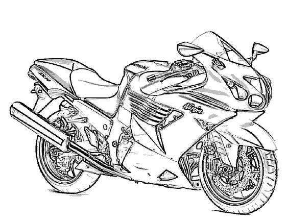 564x435 Kawasaki Crotch Rocket Free Coloring Page Adults, Motorcycles