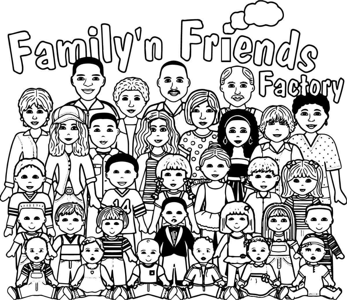 1199x1035 Crowd Of People Coloring Page Web Coloring Pages