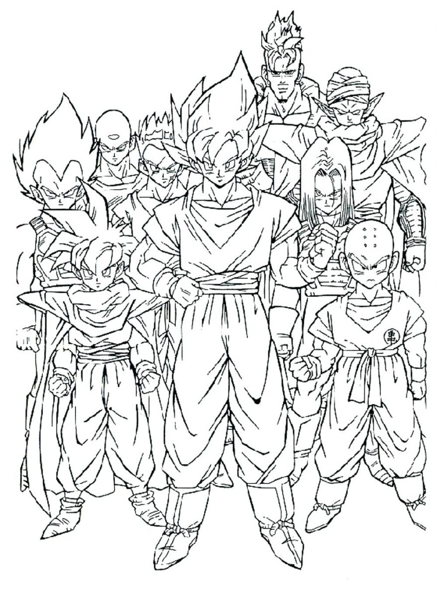 878x1207 Fresh Dragon Ball Z Coloring Pages High Definition