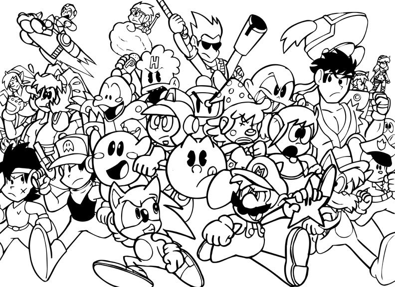792x576 Video Game Coloring Pages For Adults