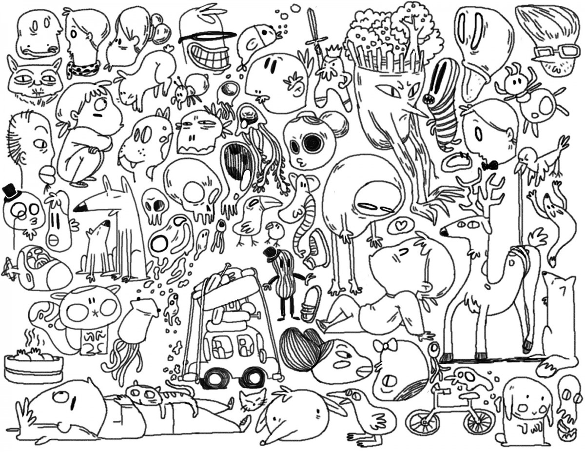 1200x927 Doodle Coloring Pages Ribsvigyapan Doodle Coloring Pages Doodle