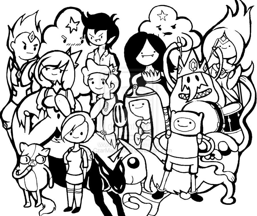 900x756 Adventure Time Coloring Pages