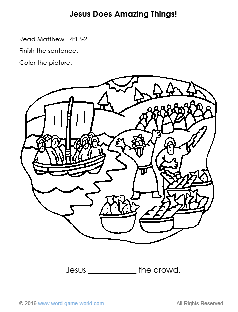 477x626 Bible Coloring Pages For Kids Jesus Does Amazing Things!