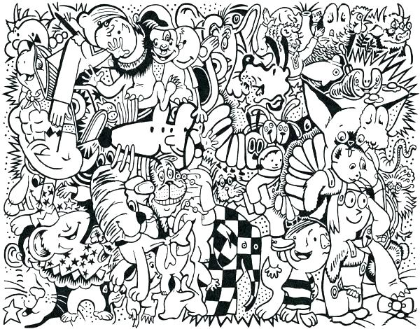 600x470 Collage Coloring Pages