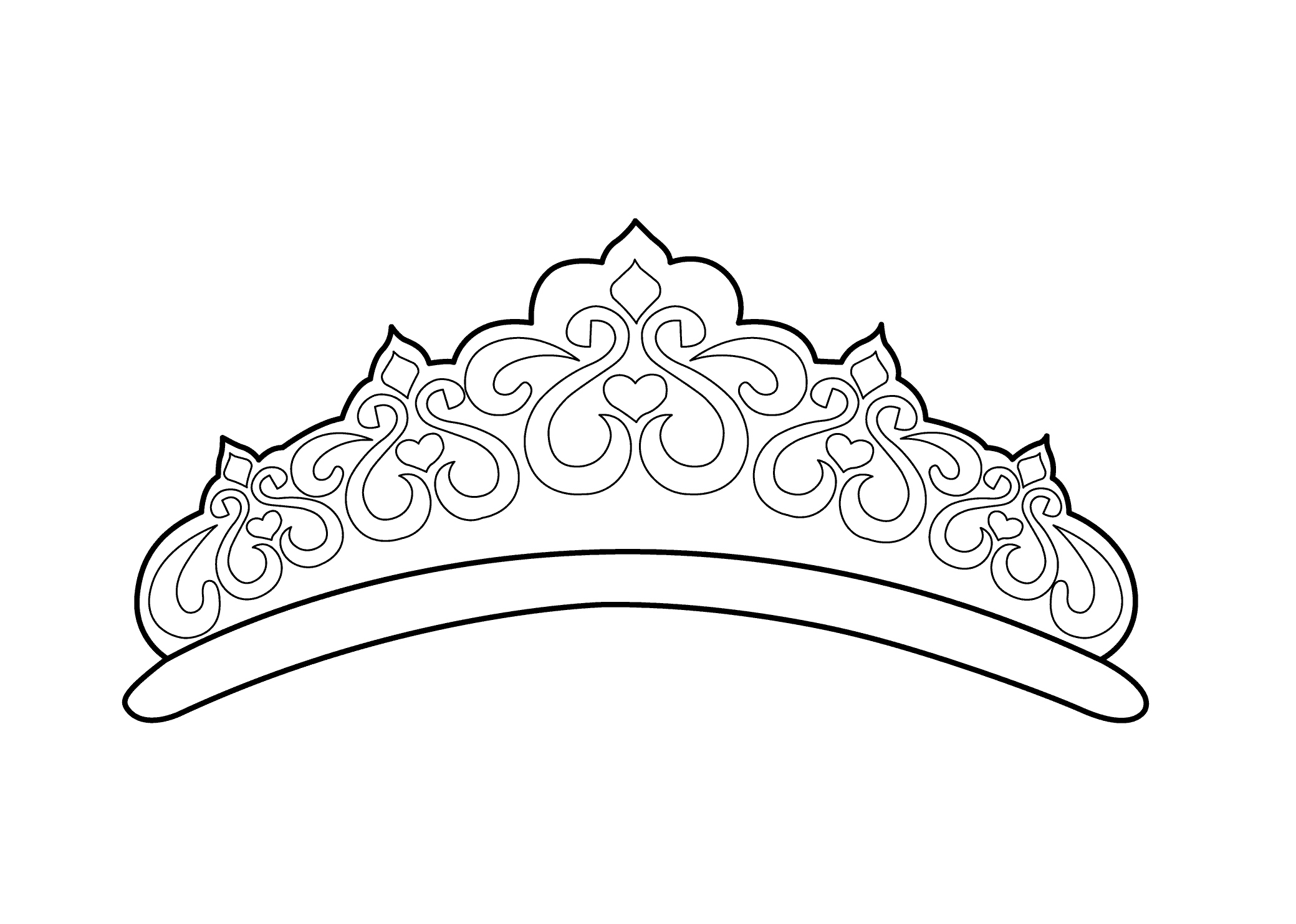 2079x1483 Crown Coloring Page Luxury Crown Princes Coloring Page Coloring
