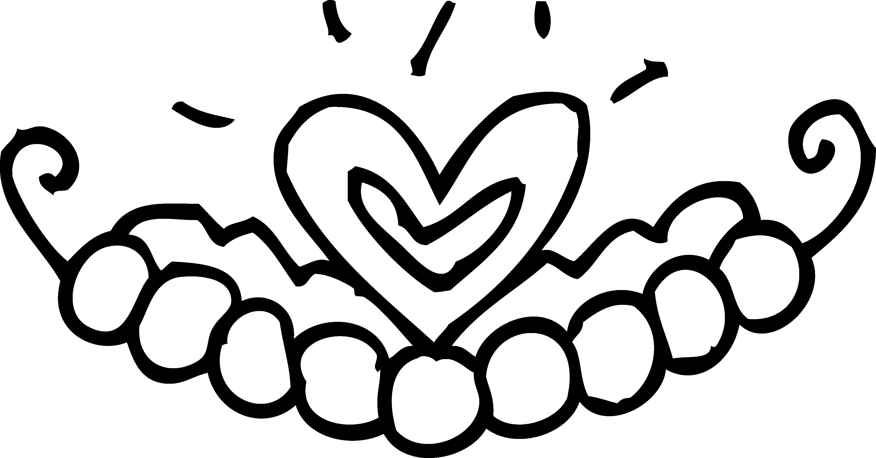 3663x1917 Crown Coloring Pages