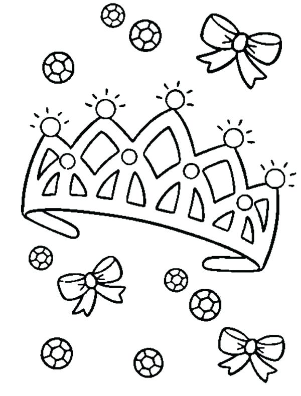 600x790 Crown Coloring Pages Diamond On Princess Crown Coloring Page