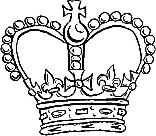600x524 King Crown Coloring Page Crown Coloring Pages Crown Coloring Page