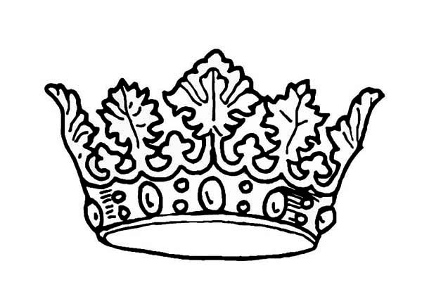 600x425 Picture Of Princess Crown Coloring Page
