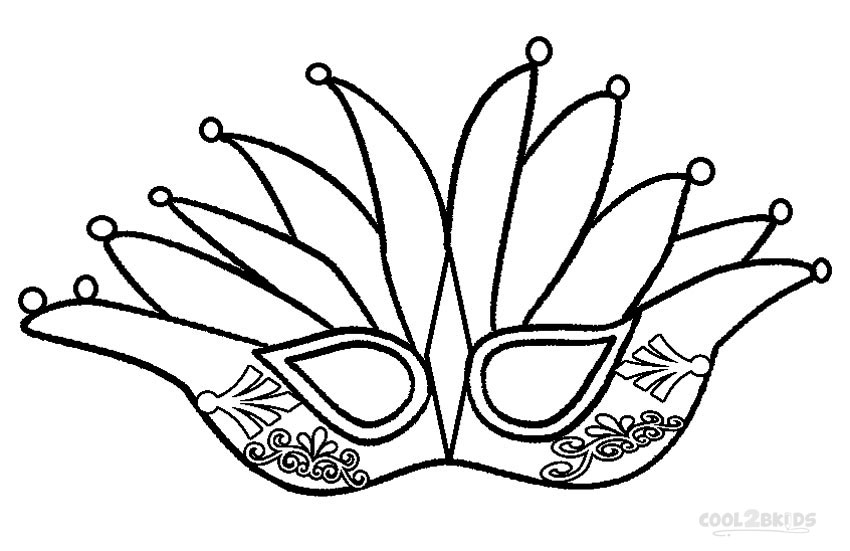 850x551 Printable Mardi Gras Coloring Pages For Kids