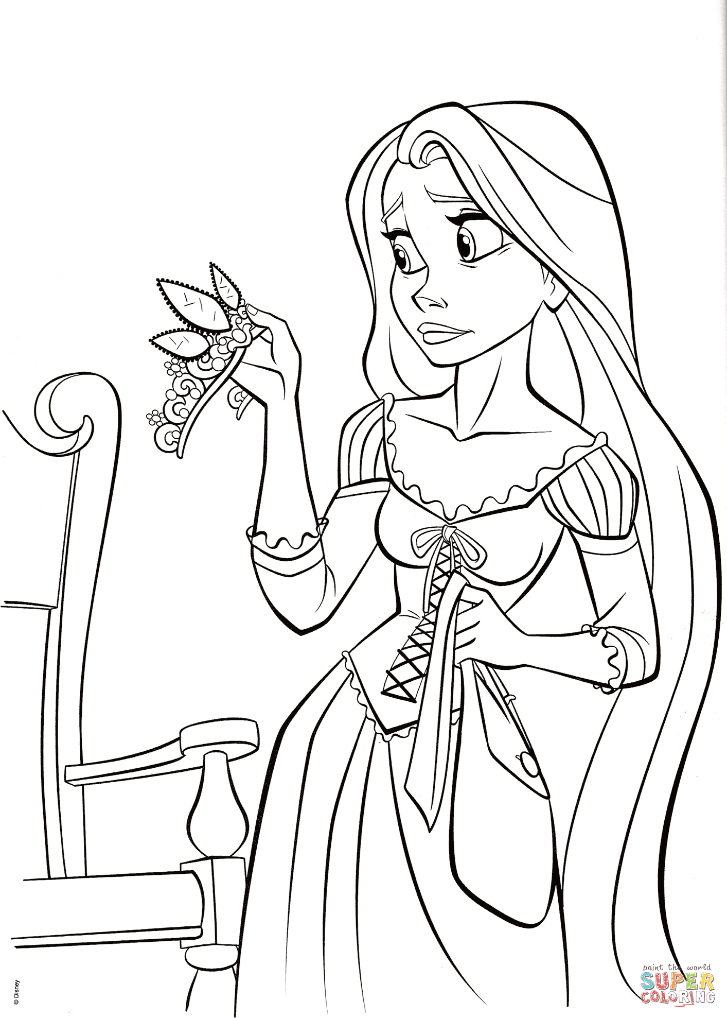 1413x1977 Unconditional Cartoon Characters To Color Princess Rapunzel