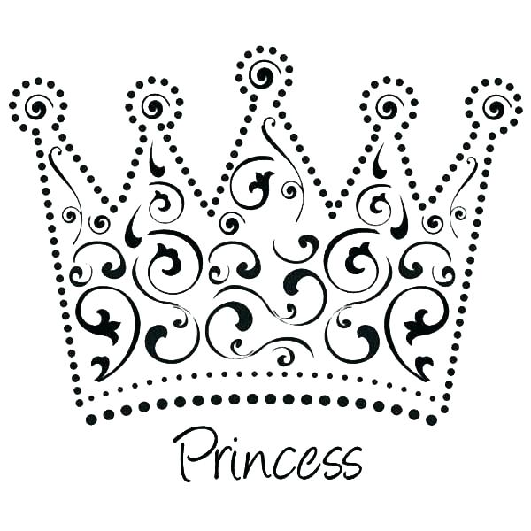 600x600 Crown Coloring Hand Made Princess Crown Coloring Page Free Crown