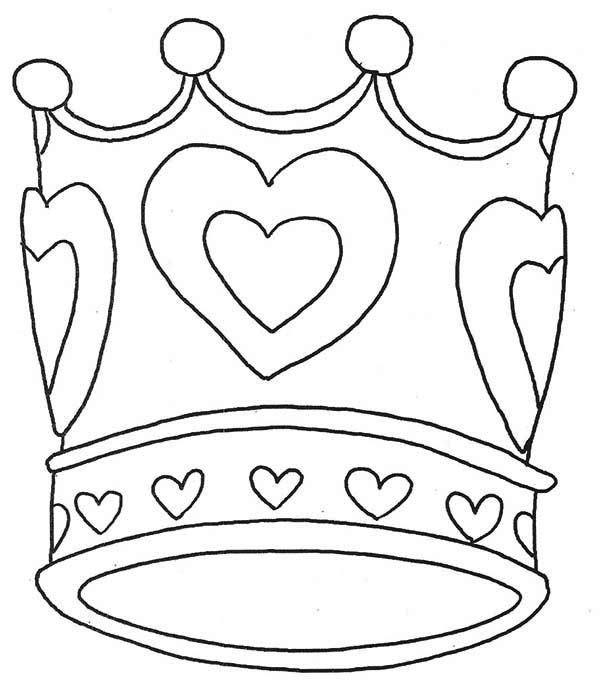 600x691 Crown Coloring Page