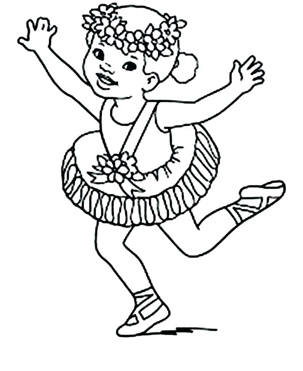 600x733 Crown Coloring Page Flower Crown Coloring Page Ballerina Wearing