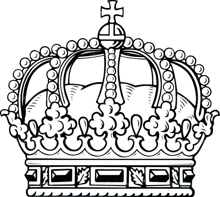 This is an image of Crown Coloring Pages Printable throughout kid
