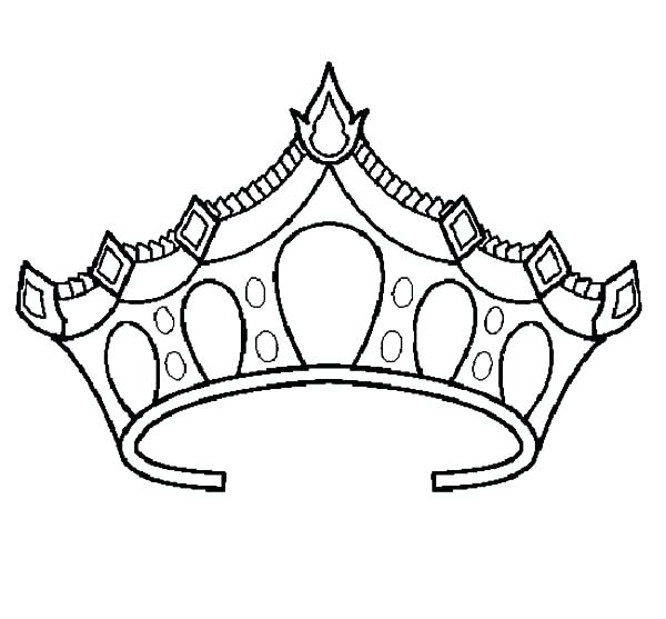 600x557 Crown Coloring Pages Crown Coloring Pages King Crown Coloring