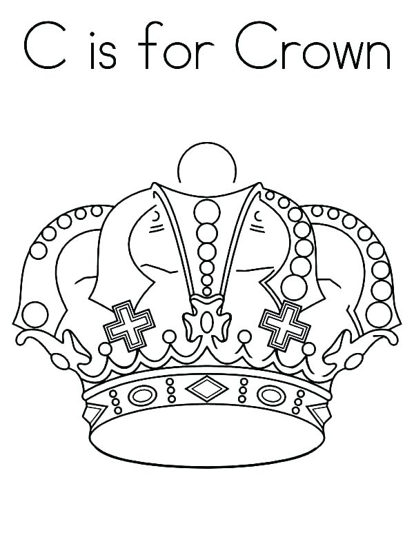 600x776 Crown Coloring Pages Free Printable Cut Out Crown Coloring Page